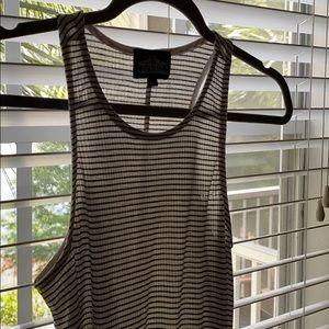 Cute and simple black & white striped tshirt dress